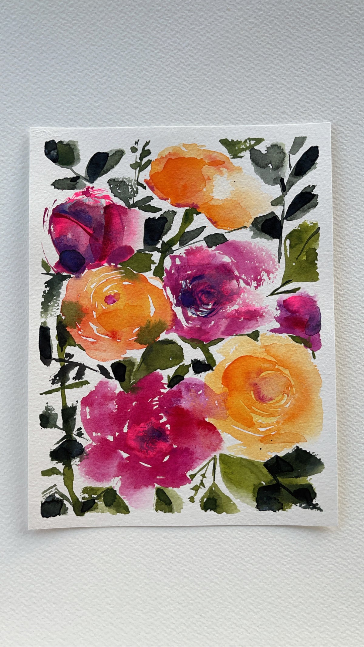 Image of 2/100 Day Painting Challenge - Original Watercolor Painting
