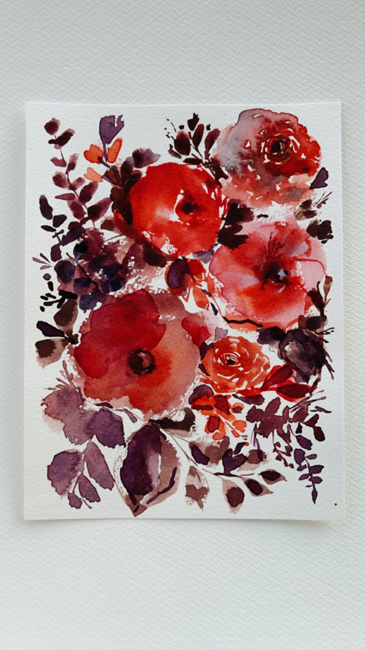Image of 6/100 Day Painting Challenge - Original Watercolor Painting