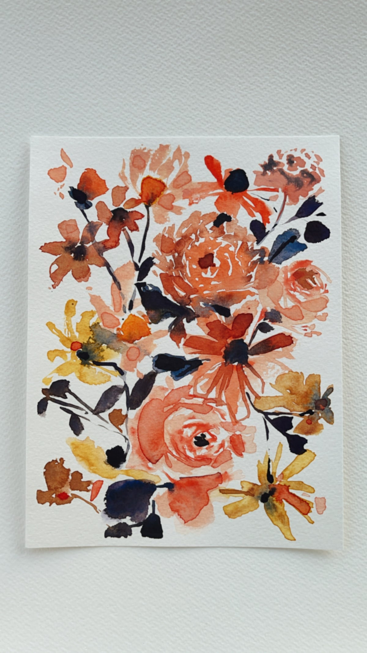 Image of 8/100 Day Painting Challenge - Original Watercolor Painting