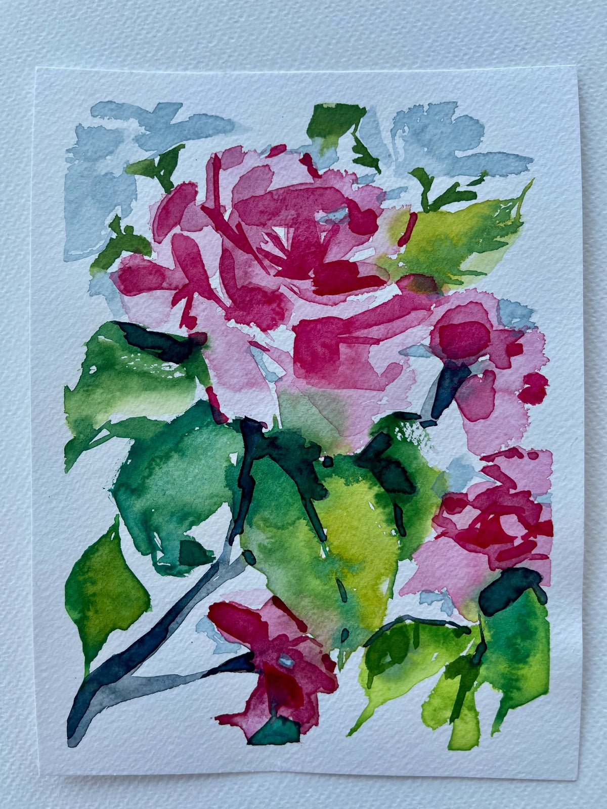 Image of 19/100 Day Painting Challenge - Original Watercolor Painting