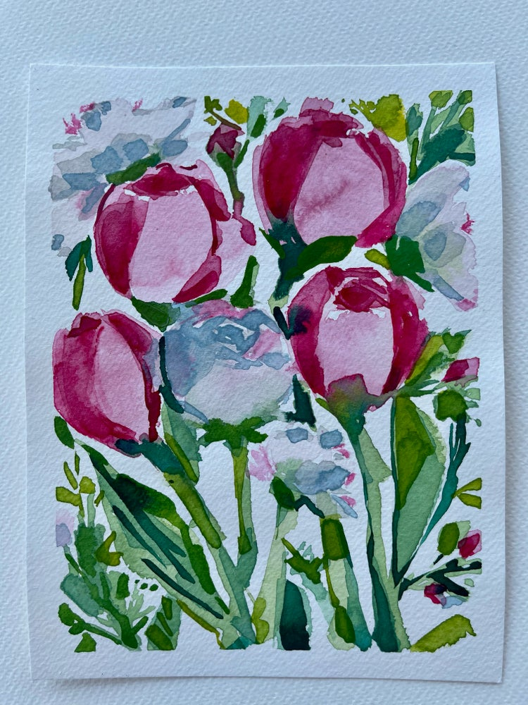 Image of 21/100 Day Painting Challenge - Original Watercolor Painting