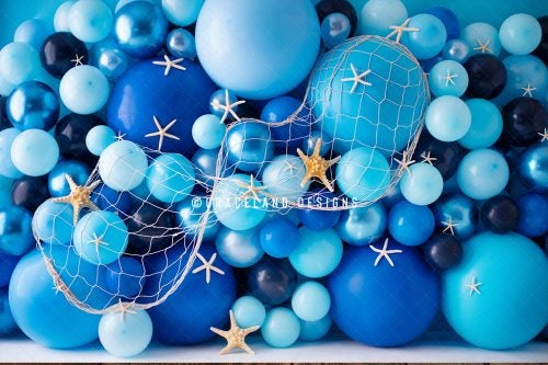 Image of Ocean Balloon Wall of Starfish - DISCOUNTED SESSION