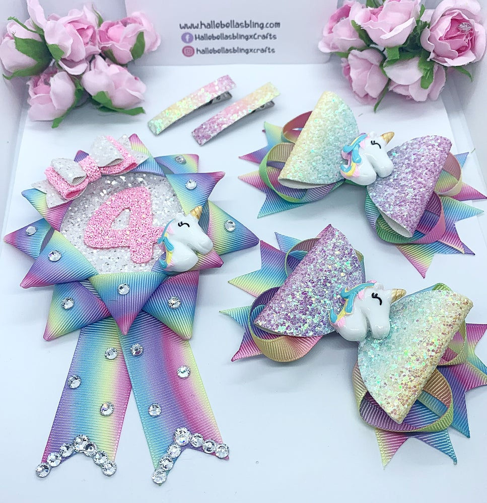 Image of Pastel Unicorn Birthday set