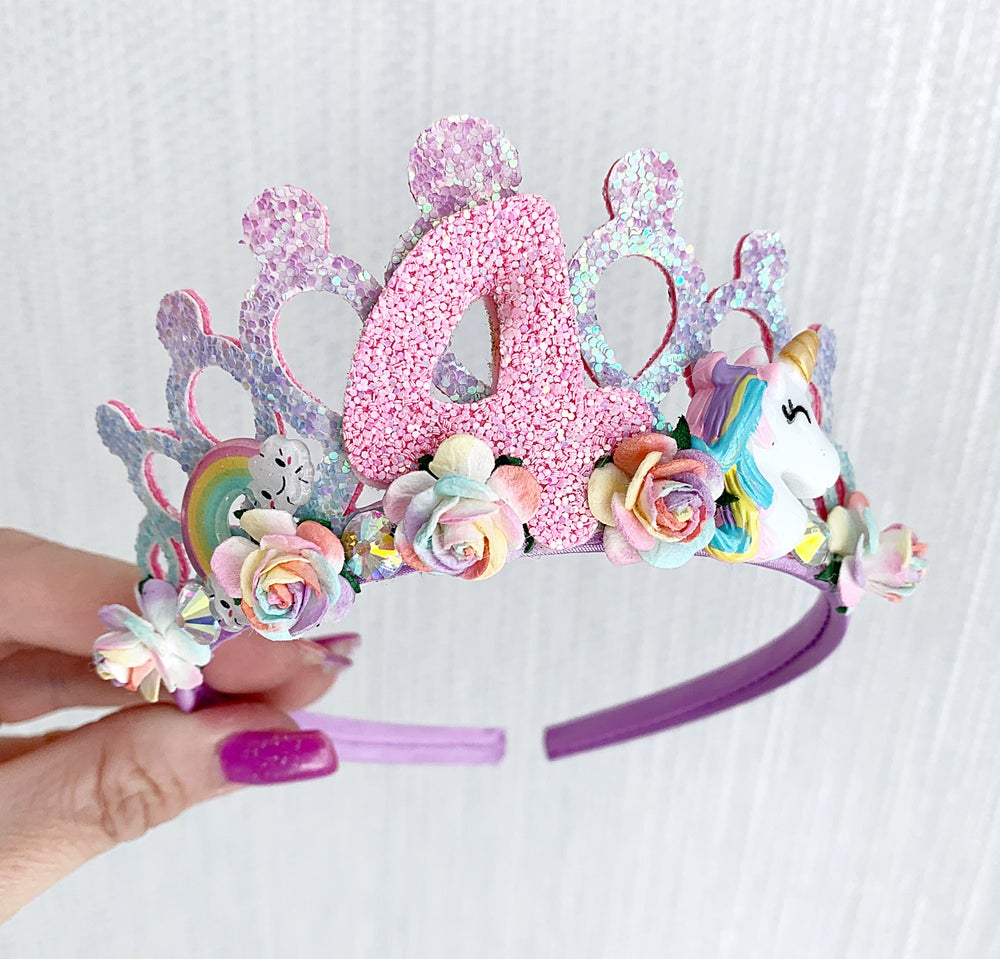 Image of Birthday Unicorn tiara crown