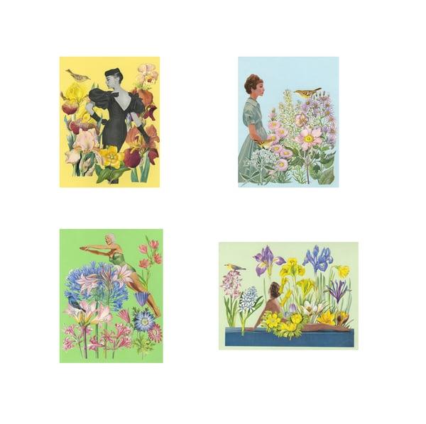 Image of Garden Ladies. Note Cards.