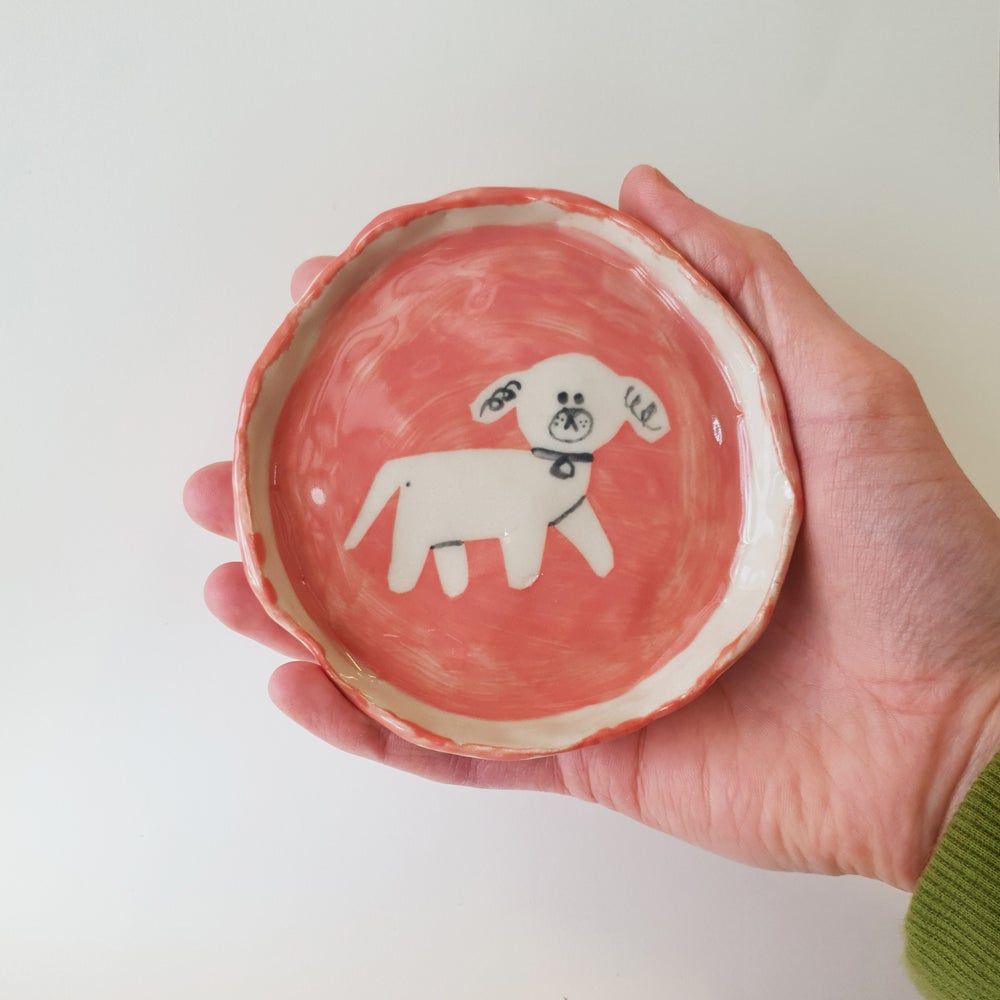 Image of Dog Plate, Red