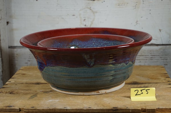 Image of Red & Blue Serving Bowl Set
