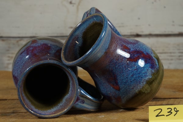 Image of Blue Purple Funky  Mugs, set of 2