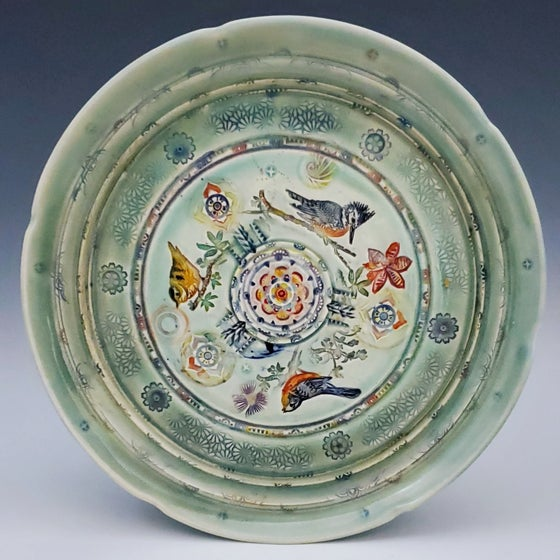 Image of Bird Trio Porcelain Plate