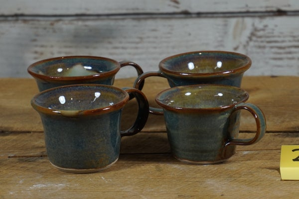 Image of Blue espresso cups, set of 4
