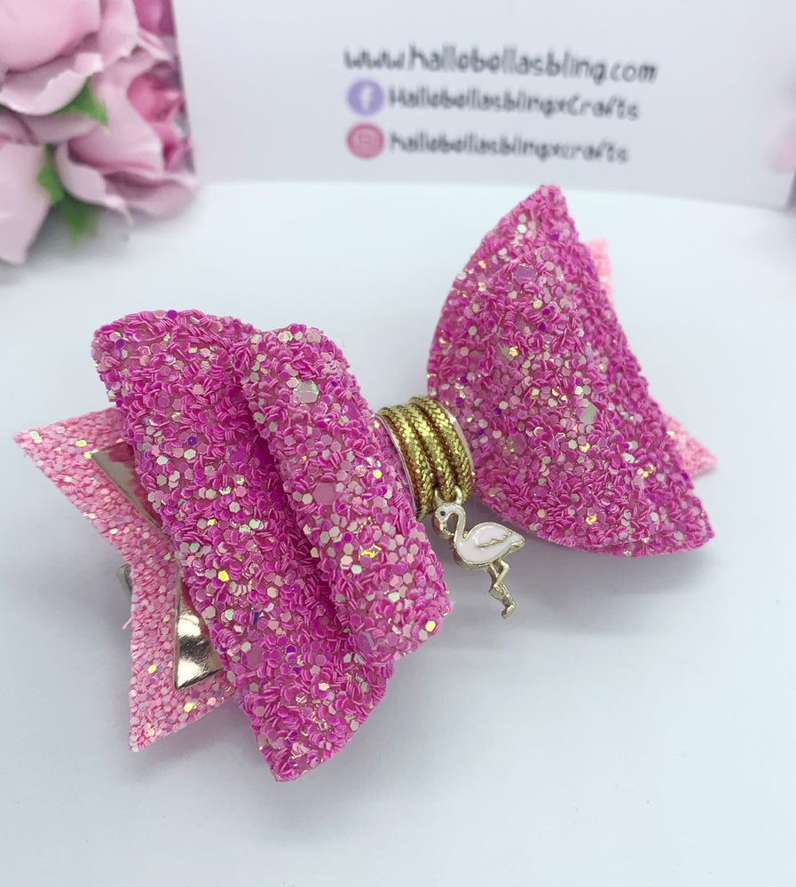 Image of Flamingo charm bow