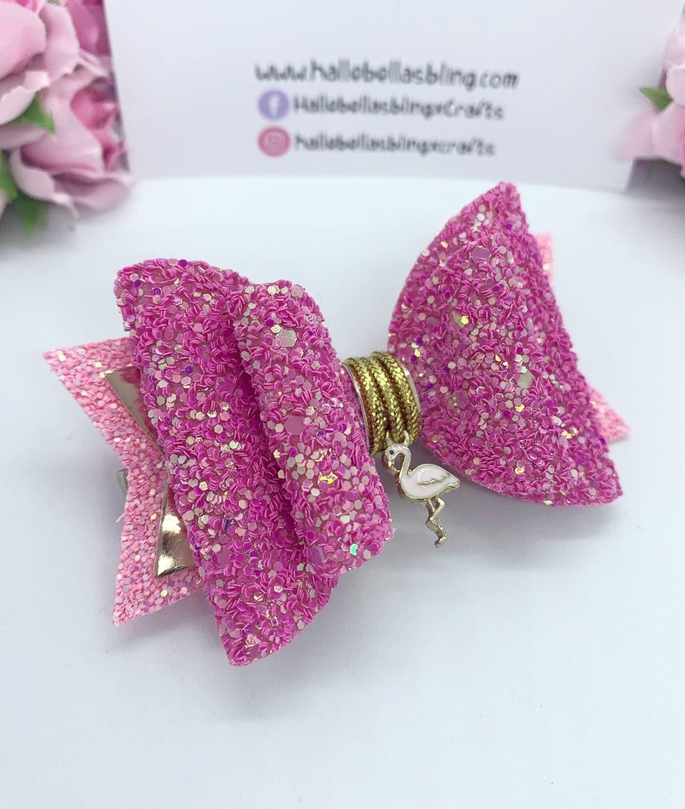 Image of Flamingo charm bow