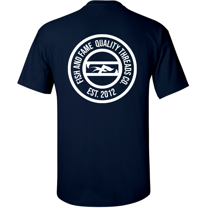 Image of Fish and Fame Crest Tee (navy)