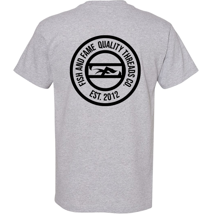 Image of Fish and Fame Crest Tee (sports grey)