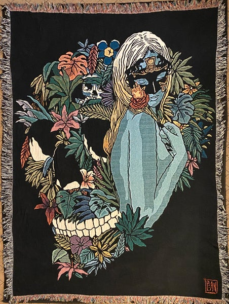 Image of Rose of Paradise woven blanket PREORDER