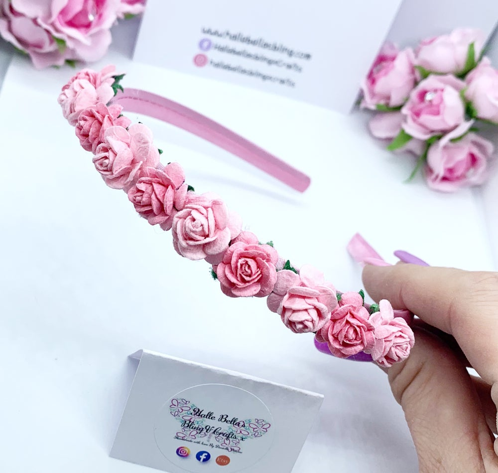 Image of Pink Flower crown