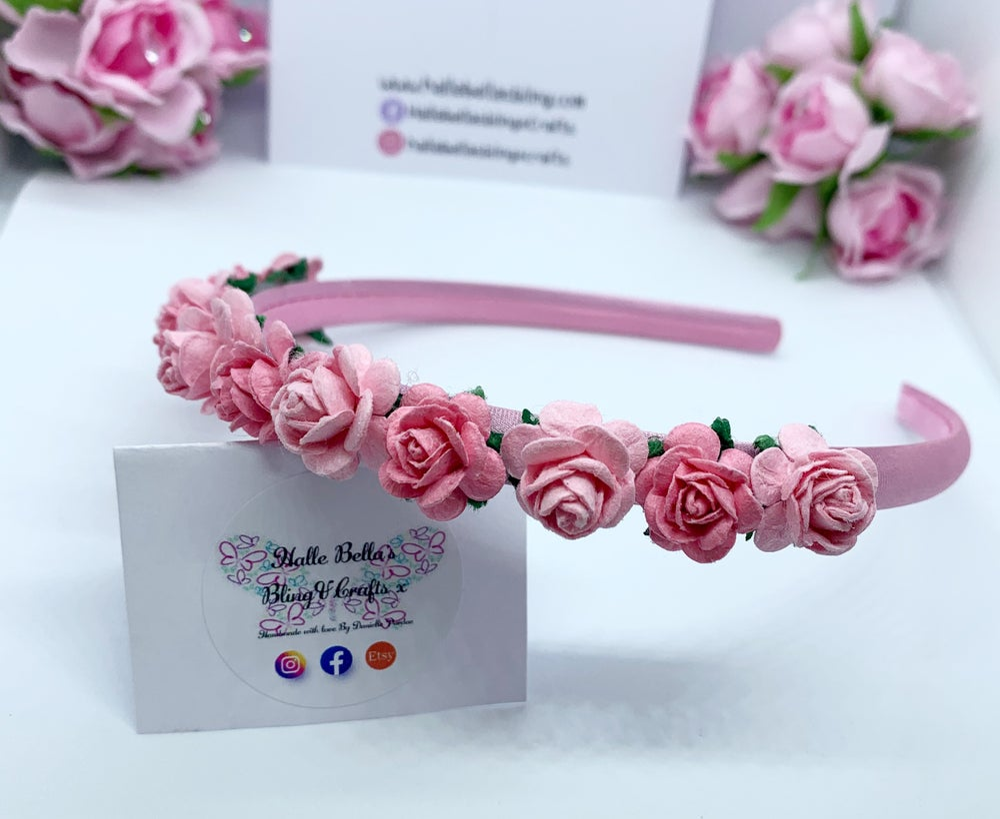 Image of Pink Flower crown