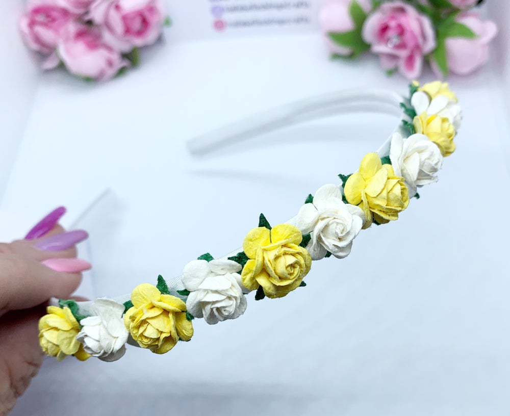 Image of Lemon & white flower crown