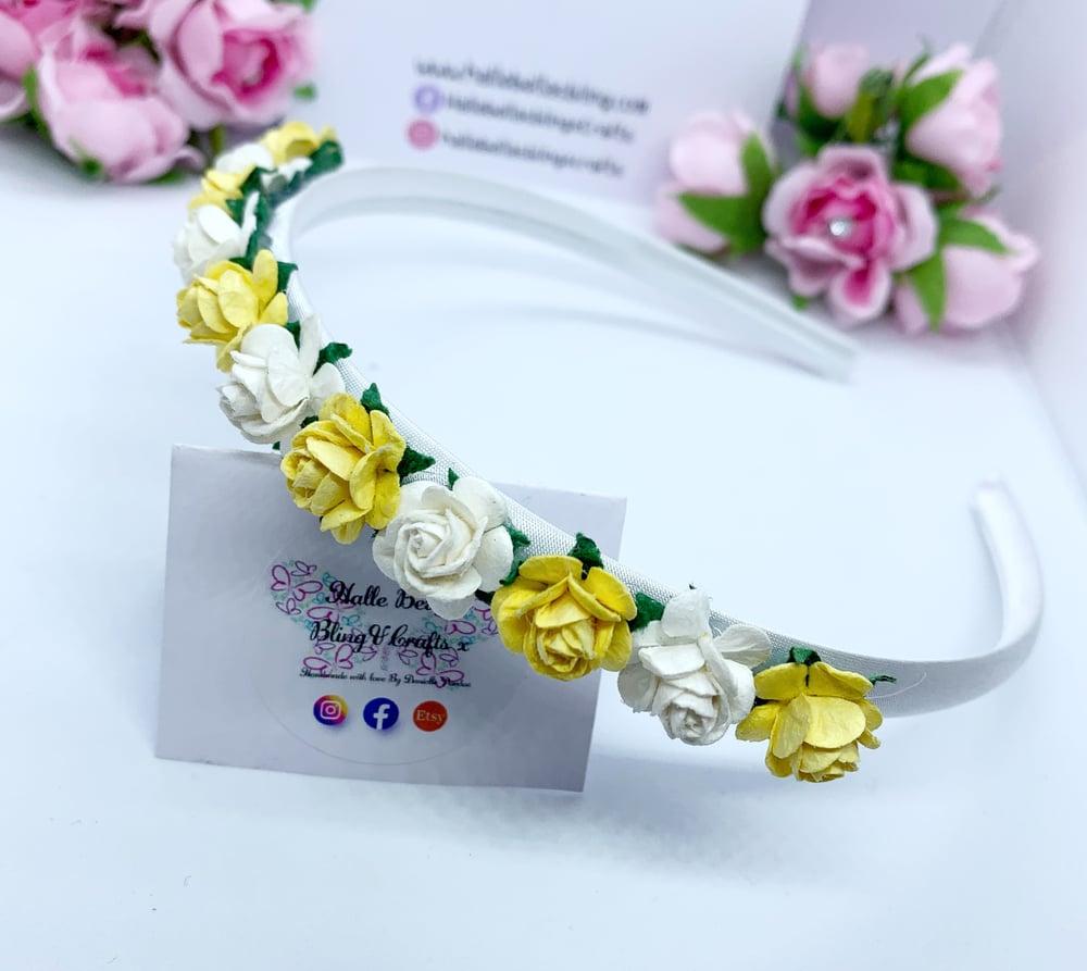 Image of Lemon & white flower crown