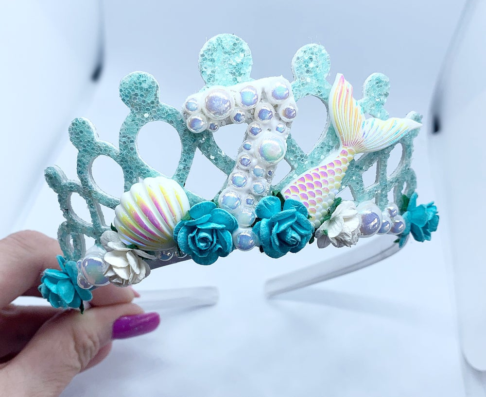 Image of Stunning Birthday mermaid Tiara/crown