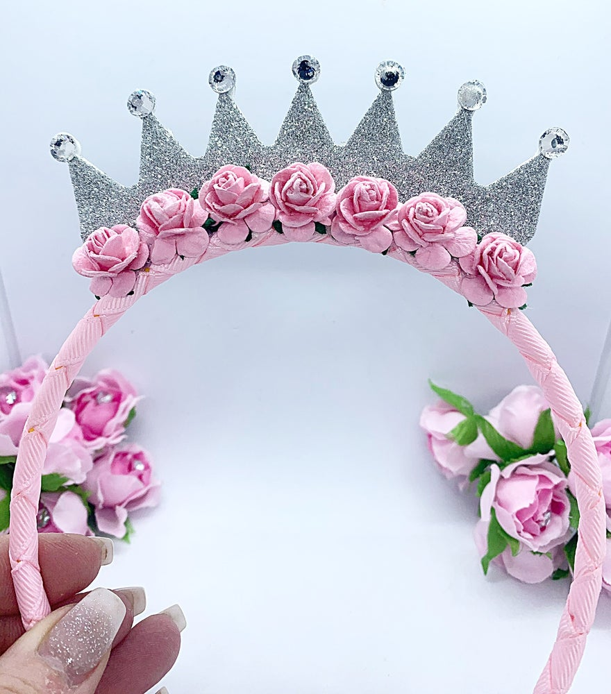 Image of Pink & silver princess Tiara