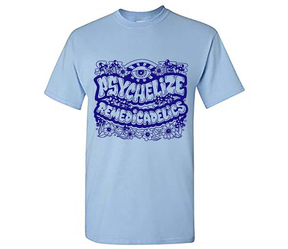 Image of PsychedelizeRemedicalics T-shirt light blue