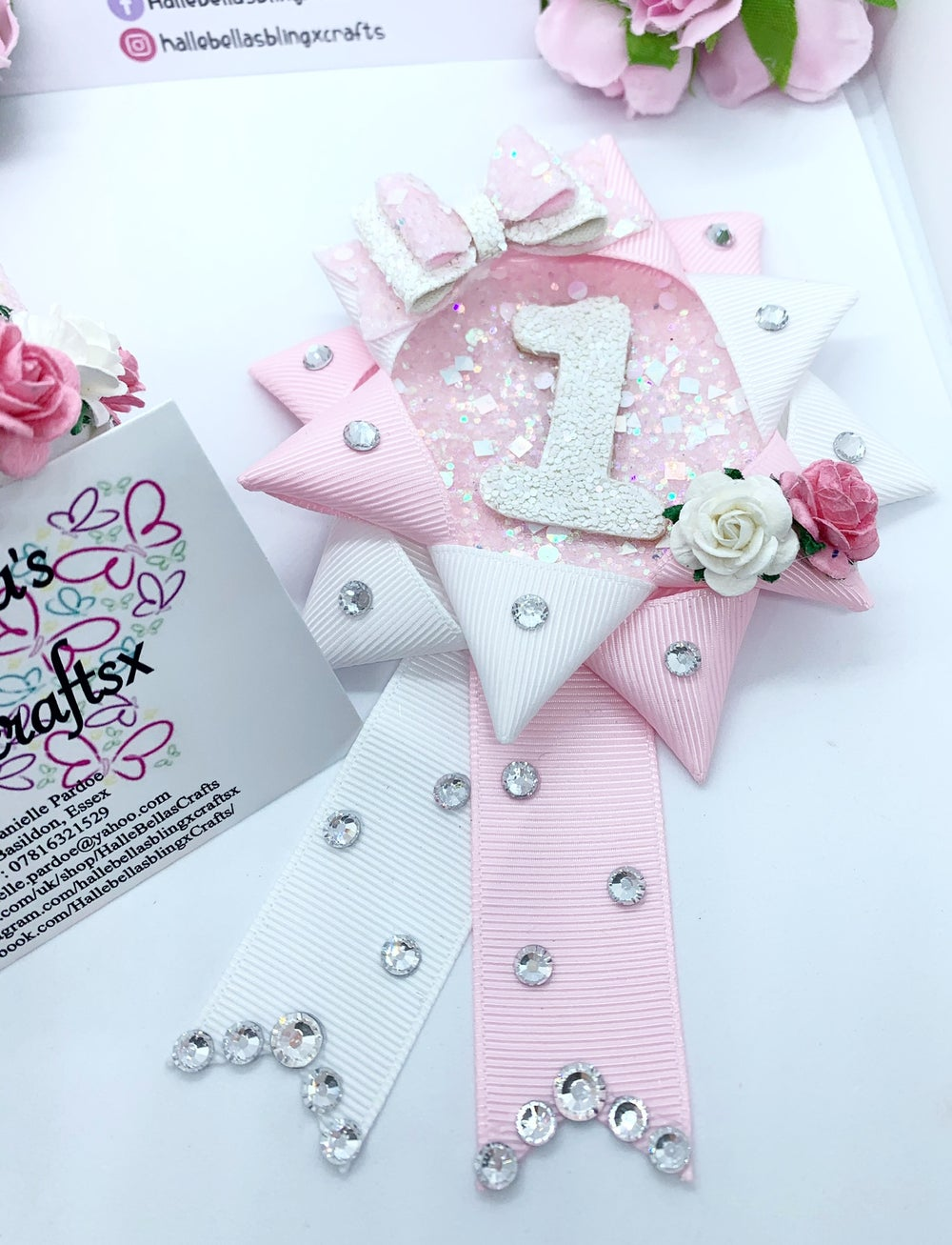 Image of Birthday set, crown and Birthday badge