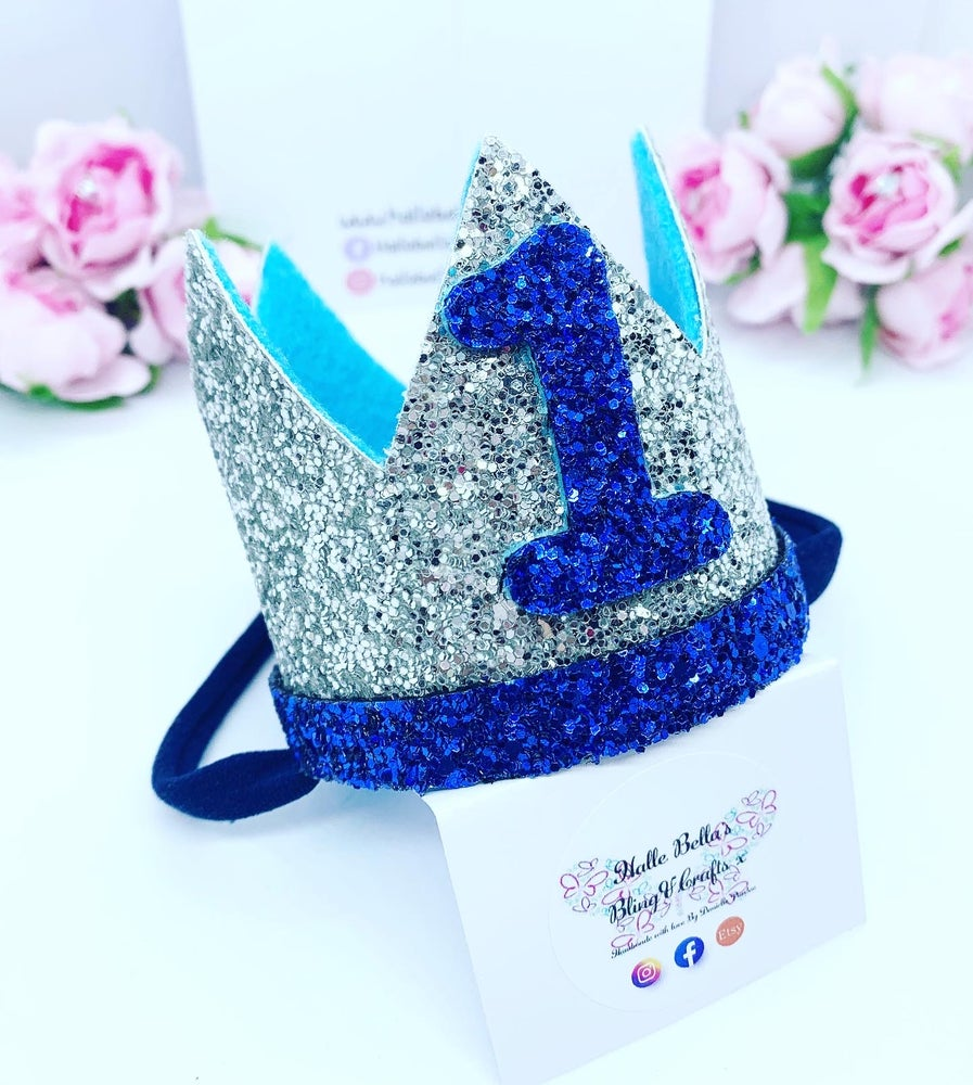 Image of Baby boy 1st Birthday crown