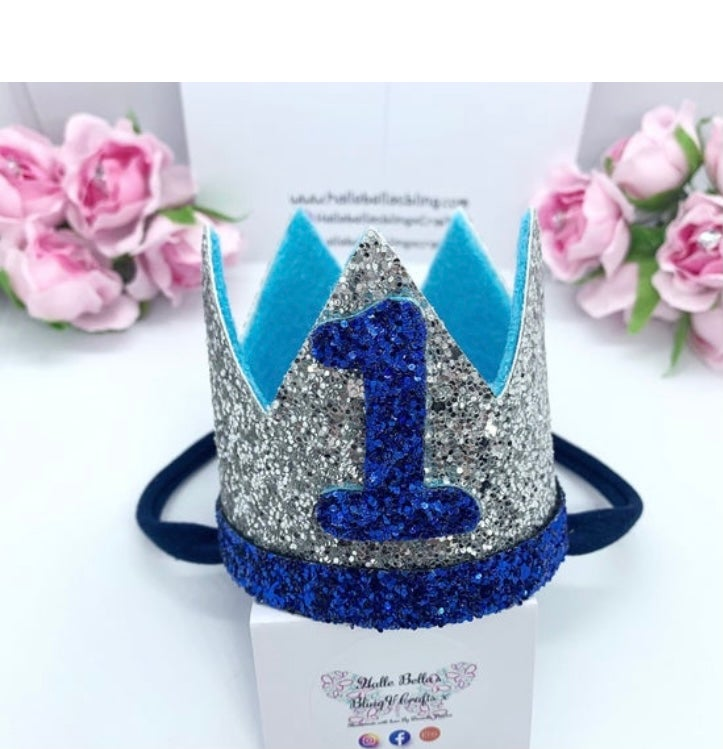 Image of Baby boy 1st Birthday crown