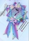Pastel rainbow Birthday Rosette