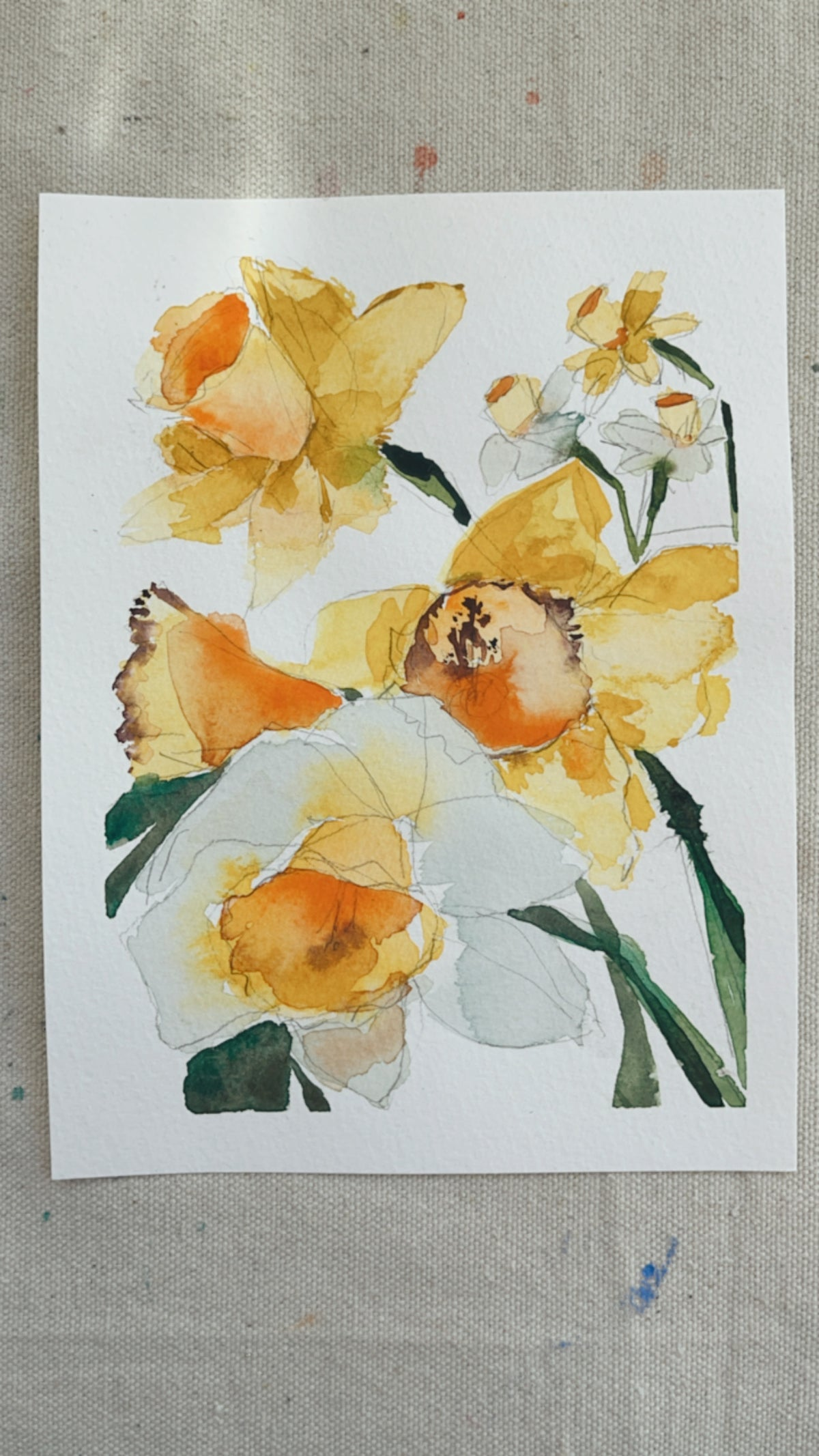 Image of 49/100 Day Painting Challenge - Original Watercolor Painting