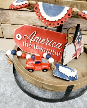 Image of Tiered Tray - Patriotic