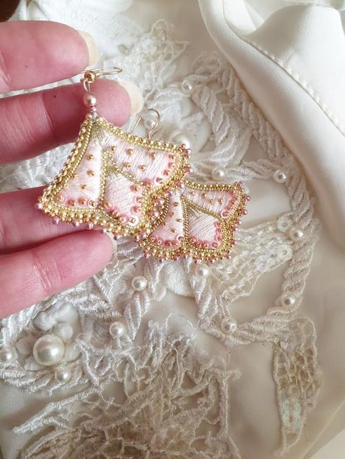 Image of Boucles d'oreilles SHANA rose  poudré