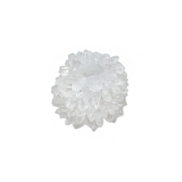 Image of Small Quartz TAPER CANDLE HOLDER