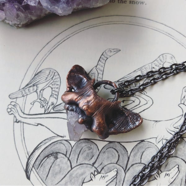 Image of Copper Weasel Atlas Bone Necklace