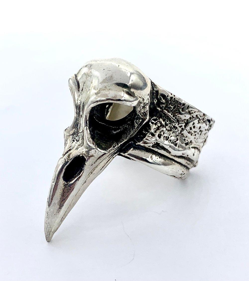 Raven Skull Ring