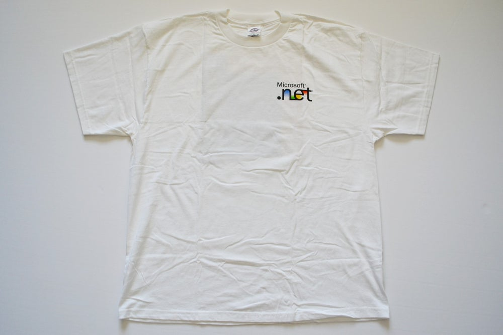 """Image of Vintage 2000's Microsoft Computers """"Step Into The Future"""" Coding T-Shirt Sz.XL"""