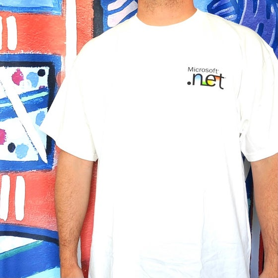 "Image of Vintage 2000's Microsoft Computers ""Step Into The Future"" Coding T-Shirt Sz.XL"