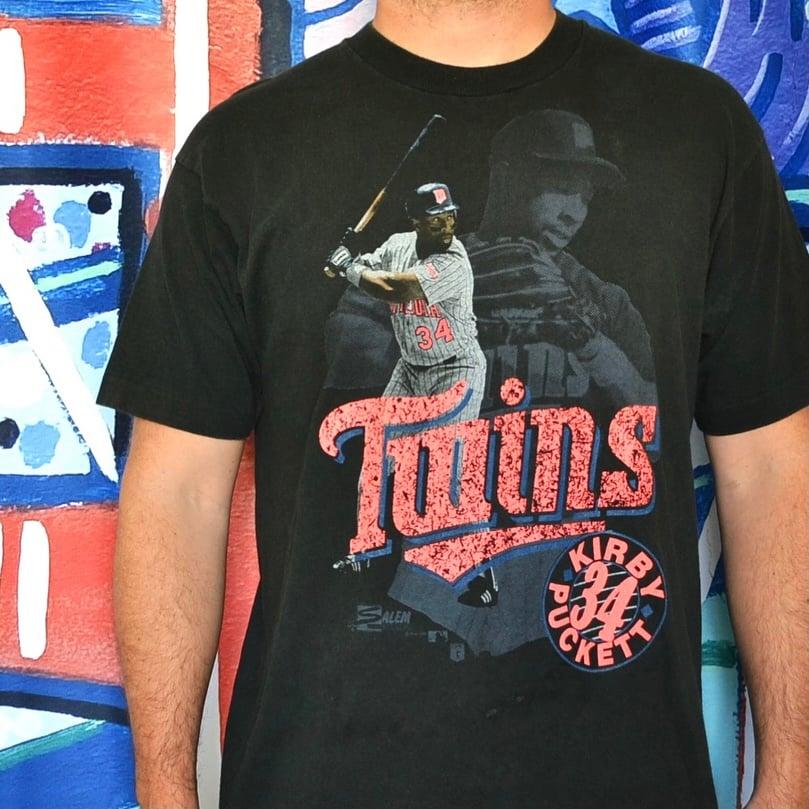 Image of Vintage 1990's Minnesota Twins Kirby Puckett Salem Sportswear T-Shirt Sz.XL