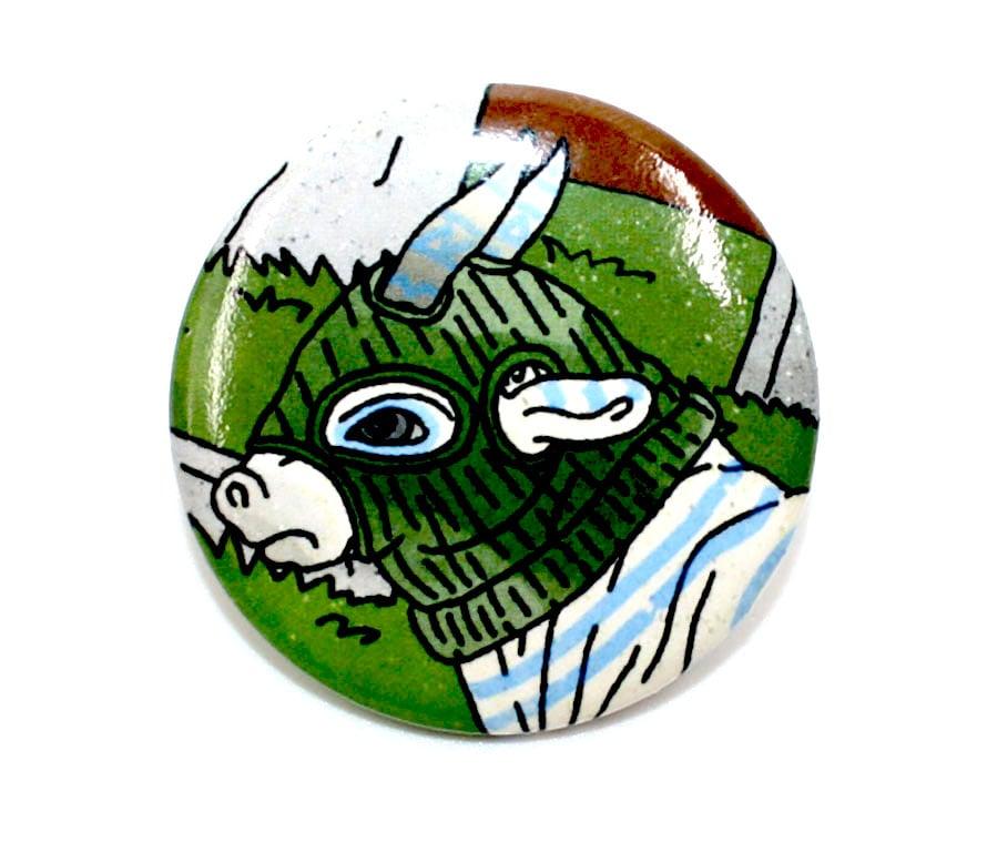 Image of Oxen button design 2