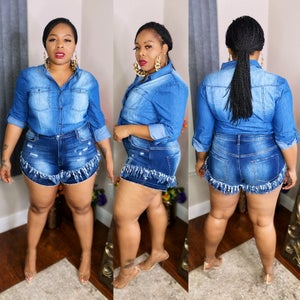 Image of First Class Denim Shorts