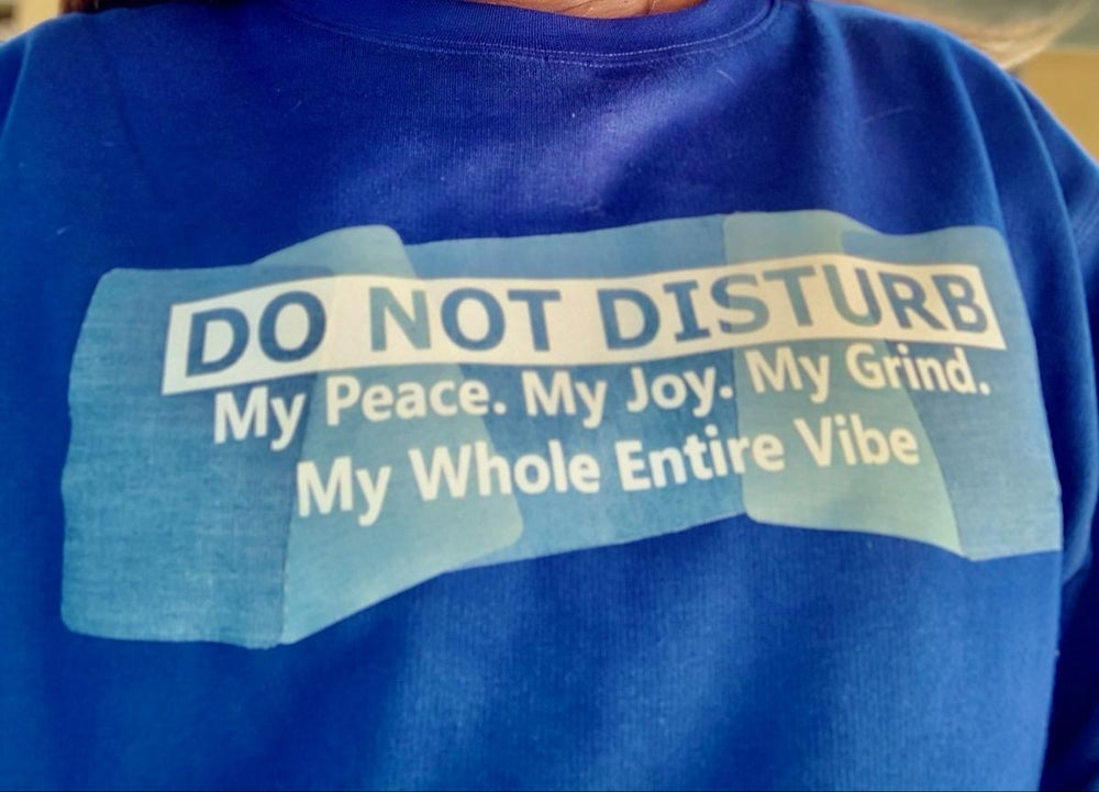 Do Not Disturb Cropped Top