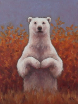 """Image of Study for """"Autumn Waiting"""" Original Oil Painting"""