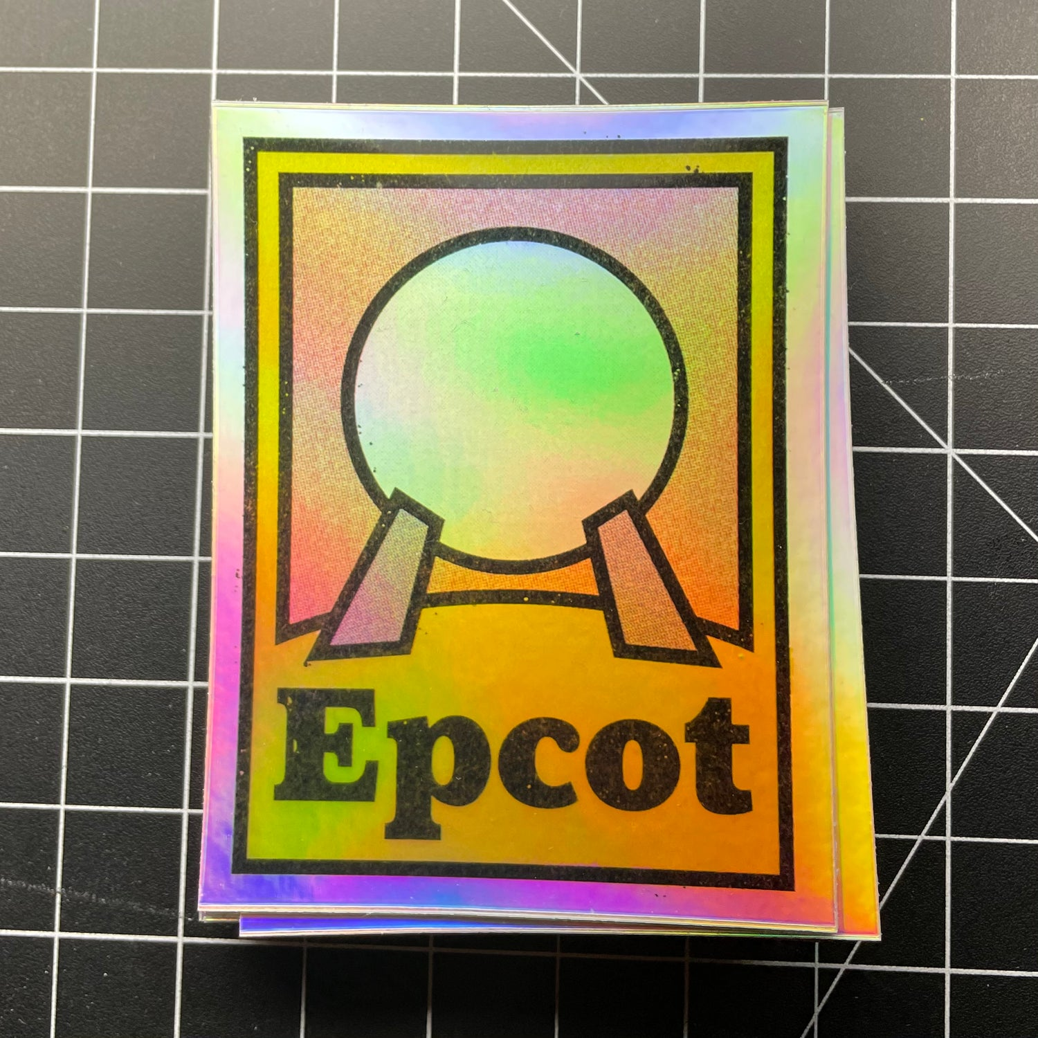 """3"""" Spaceship Earth Holographic Sticker"""