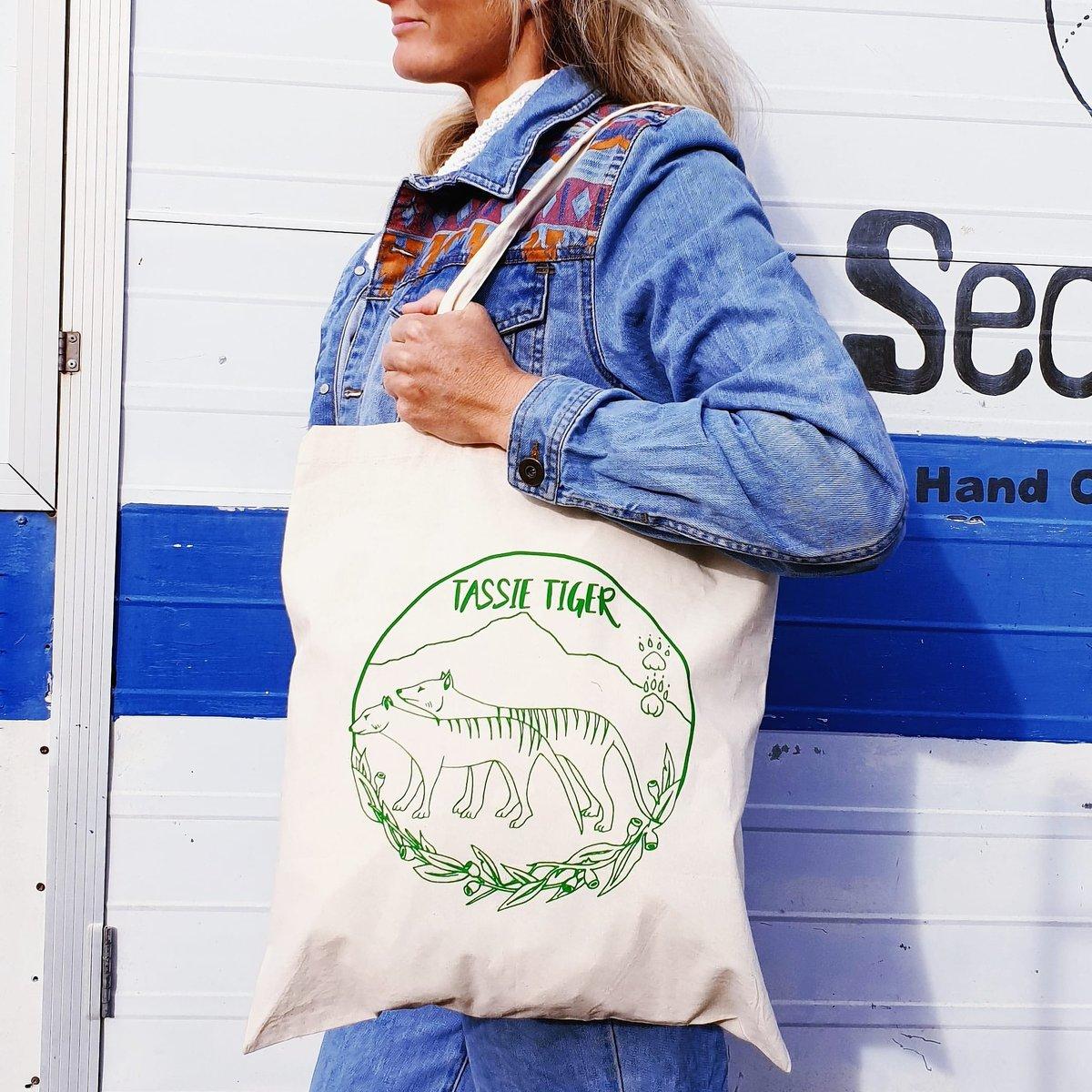 Tassie Tiger Tote Bag