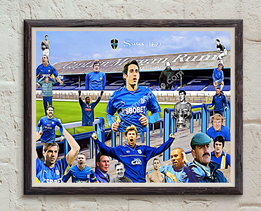 Image of CARDIFF CITY LEGENDS DIGITAL OIL PAINTING PRINT