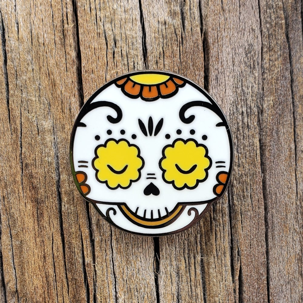 """Yellow/Orange Calaverita 1"""" Enamel Pin"""