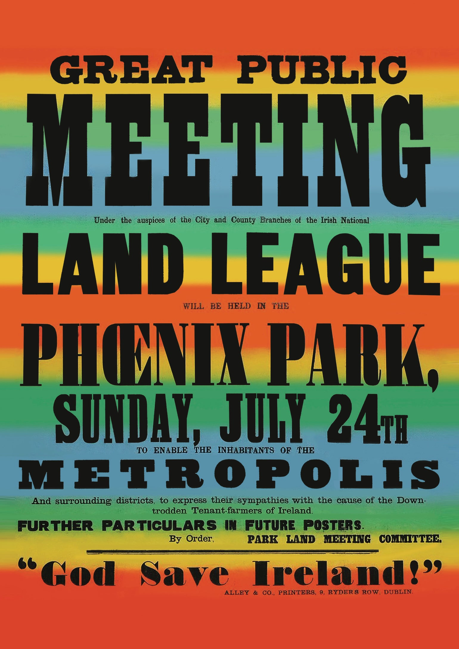 Image of 1881 Land League Poster
