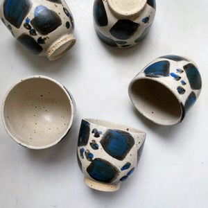 Image of Thrown Leopard cup
