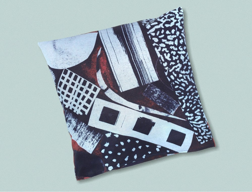 Image of DARK COLLAGE PILLOWCASE